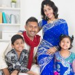 Portrait of happy Indian family — Stock Photo