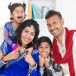 Stock Photo: Happy smiling Indian family