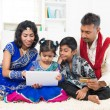 Indian family online shopping — Stock Photo