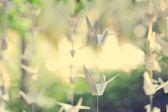 Paper crane — Stock Photo