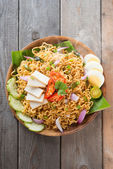Malaysian style maggi goreng mamak  — Stock Photo