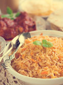 Indian cuisine biryani rice — Stock Photo