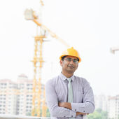 Asian Indian male contractor — Stock Photo