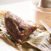 Unwrapped Sticky Glutinous Rice Dumplings — Stock Photo