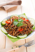 Asian spicy fried noodles — Stock Photo