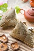 Chinese festive food rice dumpling — Stock Photo
