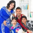 Asian Indian family at home — Stock Photo
