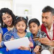 Indian Asian family online shopping — Stock Photo #46721555