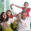 Happy Indian family at home — Stock Photo #47663341