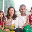 Happy Indian family — Stock Photo