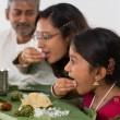 Indian family dining — Stock Photo