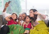 Selfie family — Stock Photo