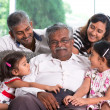 Multi generations Indian family — Stock Photo
