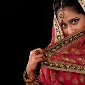 Mystery young Indian female — Stock Photo