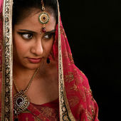 Indian girl looking at side space — Stock Photo