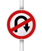 No u turn. — Stock Photo