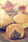 Mooncakes in vintage toned — Stock Photo