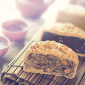 Mooncakes in vintage style — Stock Photo