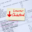 Lower the cholesterol concepts of better health — Stock Photo