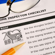 Real estate home inspection checklist and condition report - Stock Photo