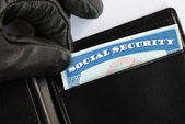 Social Security theft concept of identity theft — Stock Photo