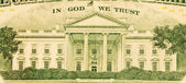 In God We Trust and White House from the dollar bill — Stock Photo