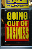 Going out of business — 图库照片