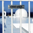 Stock Photo: Crew Only label concepts of warning and restriction