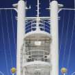 Observation tower in a cruise ship concepts of leadership and vanguard - Stock Photo