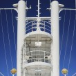 Observation tower in a cruise ship concepts of leadership and vanguard — 图库照片