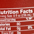 Focus on the nutrition facts concepts of eat healthy - Stock Photo