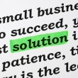 The word Solution concepts of solving problems - Stock Photo