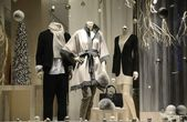 Display window from a clothing store concept of luxury clothing — Stok fotoğraf