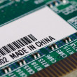 Computer parts with the label Made in China — ストック写真