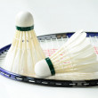 Badminton racket and shuttlecocks concept of sport — Stock Photo