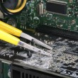 Computer technicirepairing concept of troubleshooting and maintenance — Stock Photo #18663227