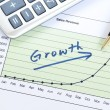 Growth in business concept of successful business — Foto de Stock