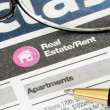 Classifieds advertisement concept of real estate sales and rental - ストック写真