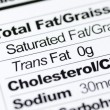 Stock Photo: Nutrition label focused on Trans Fat content concept healthy eating