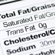 Nutrition label focused on Trans Fat content concept healthy eating — Stock Photo #18663409