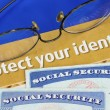 Stockfoto: Protect personal identity concept of privacy theft