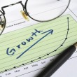 Growth in business concept of successful business — Stock Photo