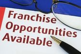 Franchise opportunities concept of new business opportunities — Stock Photo
