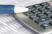 Analyzing financial data concept of accounting and auditing — 图库照片
