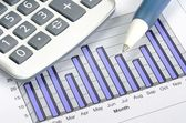 Business charting concept of financial report — Stock Photo