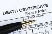 ölüm sertifikası — Stok fotoğraf