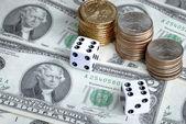 Money investing is risky — Stock Photo