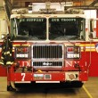 Fire Engine concepts of safety and rescue — Foto de Stock