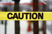 Caution sign tape concept of warning and danger — Stock Photo