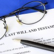 Last Will and Testament concept of estate planning - Stock Photo